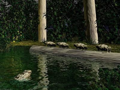 Digital Art - Frog Hollow by John Pangia