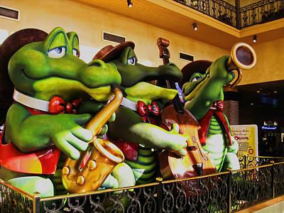 Saxophone Photograph - Frog Musicians by Jon Berghoff