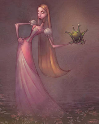 Amphibians Wall Art - Painting - Frog Prince by Adam Ford