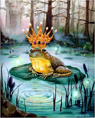 Frogs Painting - Frog Prince by Heather Calderon