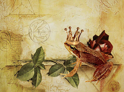 Frogs Mixed Media - Frog Prince by Heike Hultsch