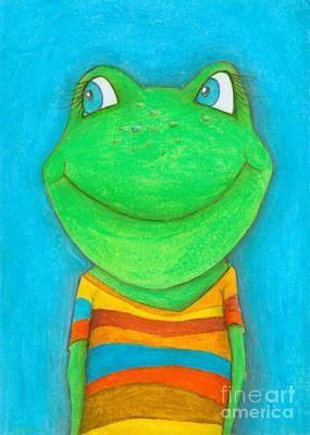 Childrens Room Painting - Frog by Sonja Mengkowski