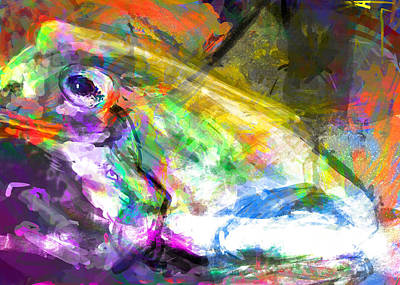 Frog Work Art Print by James Thomas