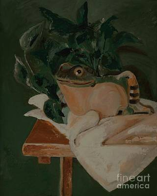 Philodendron Painting - Froggie by Barbara Moak