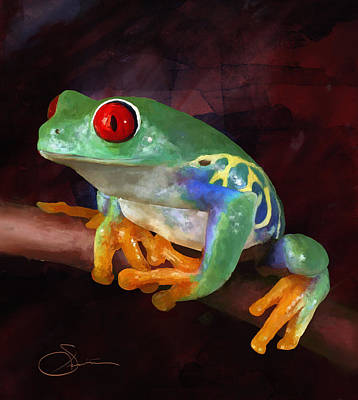 Painting - Froggie by Robert Smith
