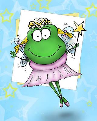 Froggy Fairy Art Print by Nicole Spencer