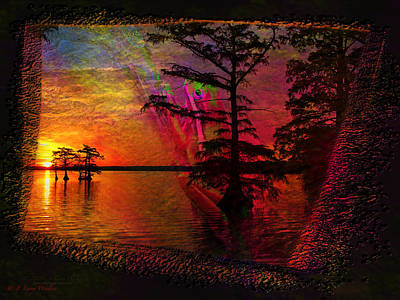 Digital Art - Froggy Morning Sunrise by J Larry Walker