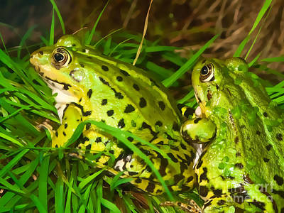 Frogs Decor Art Print by Lutz Baar