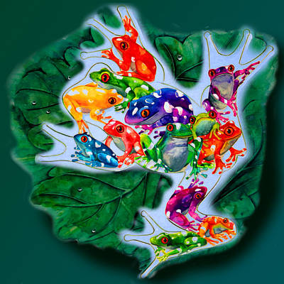 Frogs Art Print by Sherry Shipley