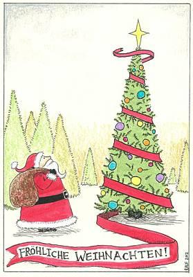 Drawing - Frohliche Weihnachten by Ralf Schulze