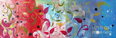 Art Print featuring the painting Frolic by Robin Maria Pedrero