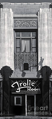 Frolic Room In Black And White Print by Gregory Dyer