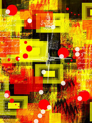 Collier Digital Art - Frolicking Thoughts by Francine Collier