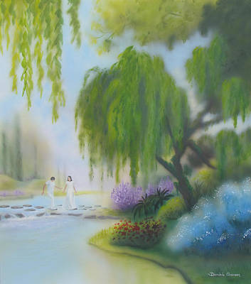 Painting - Frolicsome Stepping Stones by Dominic Sanson