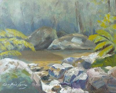 Painting - From A Childhood Memory by Winifred Lesley