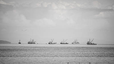 Photograph - From A Distance Herring Season by Roxy Hurtubise