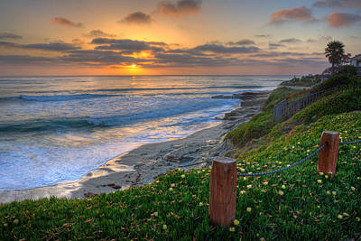 La Jolla Art Photograph - From Above II by Peter Tellone