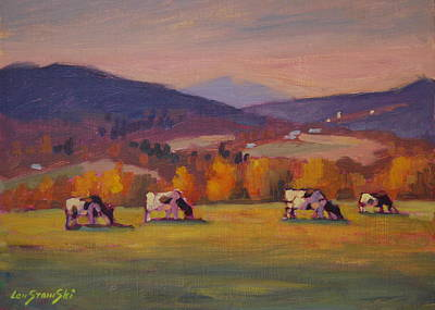 Berkshire Hills Painting - From Airyhill by Len Stomski