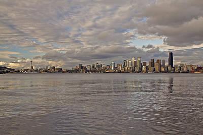 from Alki Beach Seattle skyline Art Print