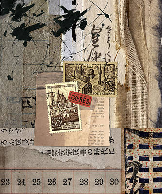 Montage Mixed Media - From Books by Carol Leigh