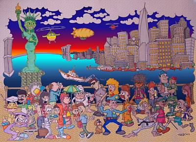 Drawing - From Brooklyn With Love by Paul Calabrese