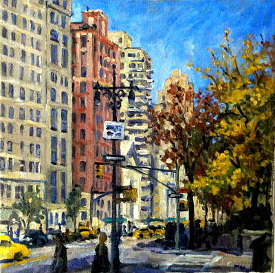 Painting - From Central Park West by Thor Wickstrom