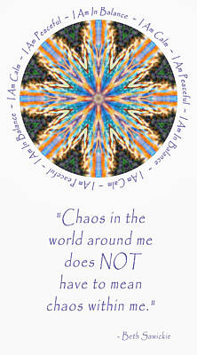 Digital Art - From Chaos To Calm by Beth Sawickie