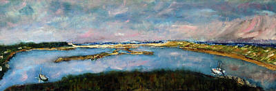 Cape Cod Painting - From Coast Guard Beach To Nauset Beach by Michael Helfen