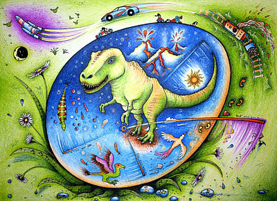 Since The Time Of Dinosaurs  Art Print by Ida  Novotna