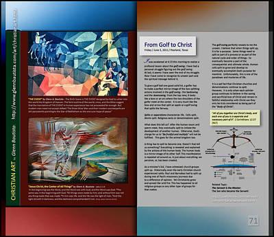 Digital Art - From Golf To Christ P71 by Glenn Bautista