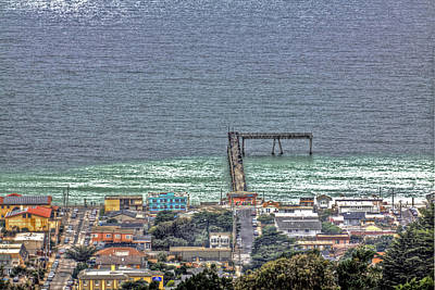 Pacifica Photograph - From Grace Mccarthy Vista Point The Pacifica Pier by SC Heffner