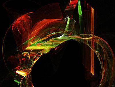 Digital Art - From Heaven To Earth / The Angel Bridge by R Thomas Brass