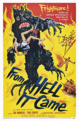 From Hell It Came, Poster Art, 1957 Art Print by Everett