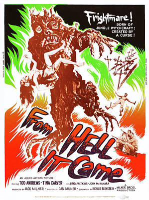 From Hell It Came, Us Poster Art, 1957 Art Print by Everett