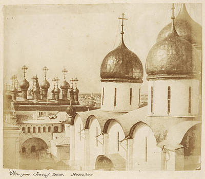 Moscow Drawing - From Ivanif Sic Tower, Kremlin, Moscow Roger Fenton by Litz Collection