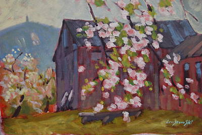 Painting - from Jaeschke's Apple Orchard by Len Stomski
