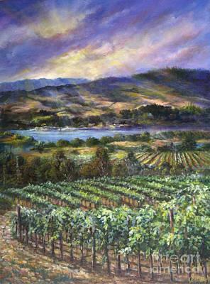 California Vineyard Painting - From Jago Bay by Gail Salitui