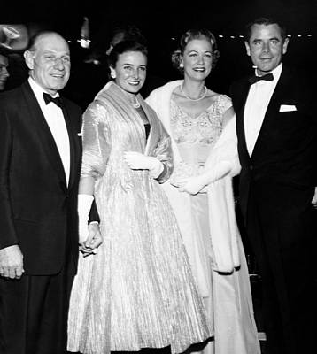 1950s Fashion Photograph - From Left, Leo Durocher, His Wife by Everett