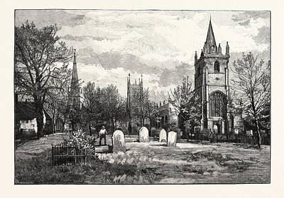 Church Bells Drawing - From Left To Right All Saints Church, The Bell Tower by English School