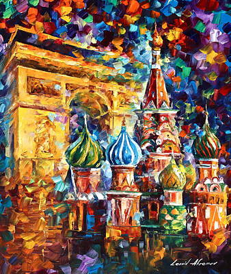 Russia Painting - From Moscow To Paris by Leonid Afremov