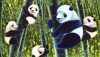 Panda Illustration Painting - From Okin The Panda Illustration 1 by Hiroko Sakai