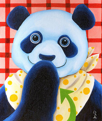 Panda Illustration Painting - From Okin The Panda Illustration 11 by Hiroko Sakai