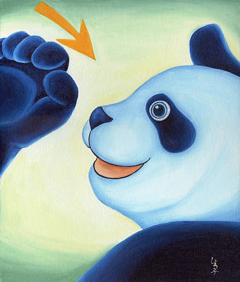 Panda Illustration Painting - From Okin The Panda Illustration 12 by Hiroko Sakai