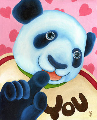 Panda Illustration Painting - From Okin The Panda Illustration 16 by Hiroko Sakai