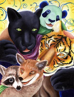 From Okin The Panda Illustration 17 Art Print