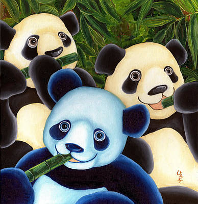 Panda Illustration Painting - From Okin The Panda Illustration 3 by Hiroko Sakai