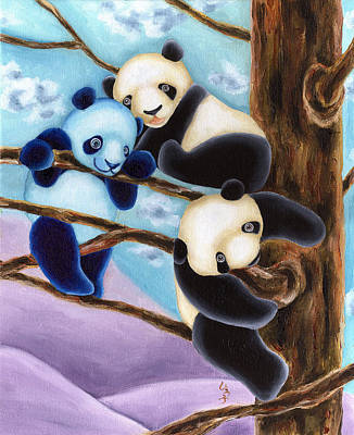 Panda Illustration Painting - From Okin The Panda Illustration 4 by Hiroko Sakai