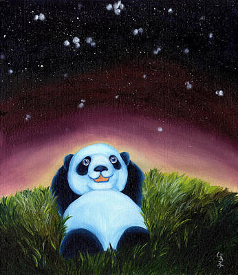 Panda Illustration Painting - From Okin The Panda Illustration 5 by Hiroko Sakai