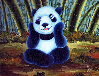 Panda Illustration Painting - From Okin The Panda Illustration 6 by Hiroko Sakai