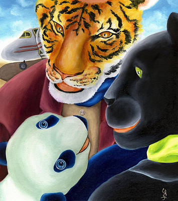 From Okin The Panda Illustration 8 Art Print
